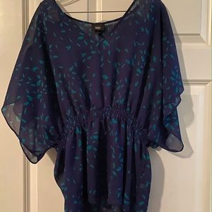 Excellent condition navy sheer top